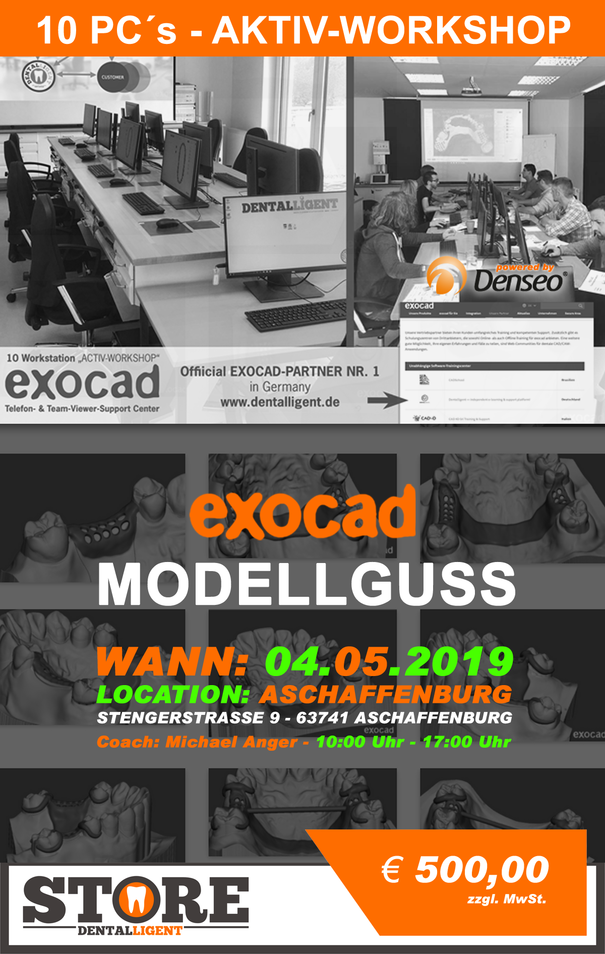 Exocad-Modellguss  by Michael Anger - 10 PC´s AKTIV WORKSHOP -DENSEO GmbH