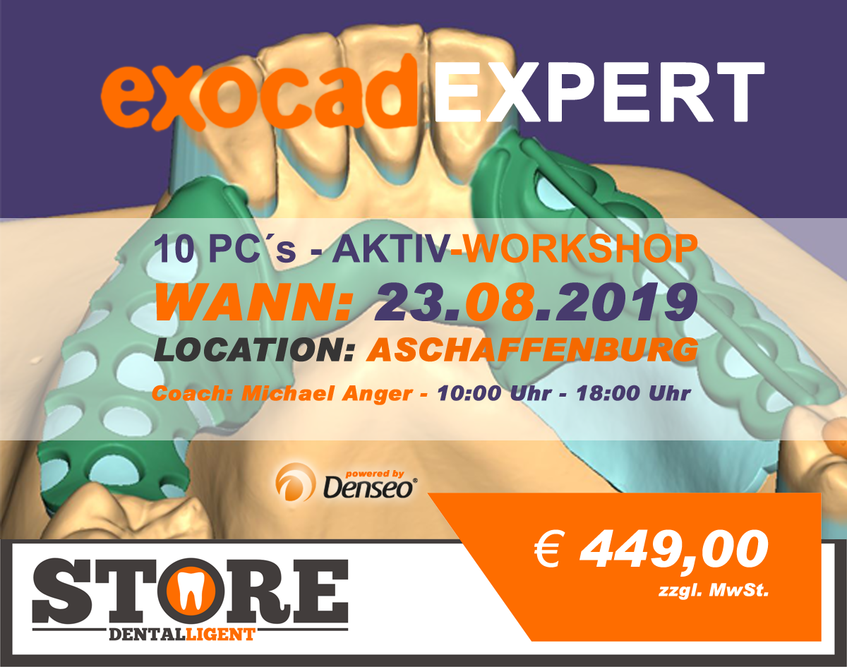 "EXOCAD - EXPERT - ""AKTIV WORKSHOP"" mit 10 PC´s -DENSEO GmbH"