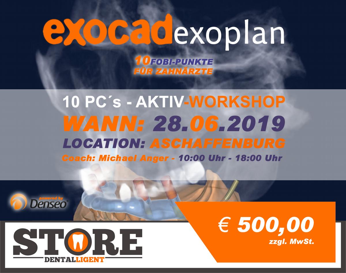 "EXOCAD - EXOPLAN - ""AKTIV WORKSHOP"" mit 10 PC´s -DENSEO GmbH"