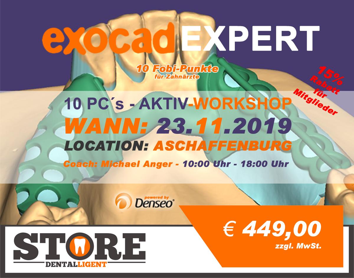"""EXOCAD - EXPERT - """"AKTIV WORKSHOP"""" AUSVERKAUFT"""